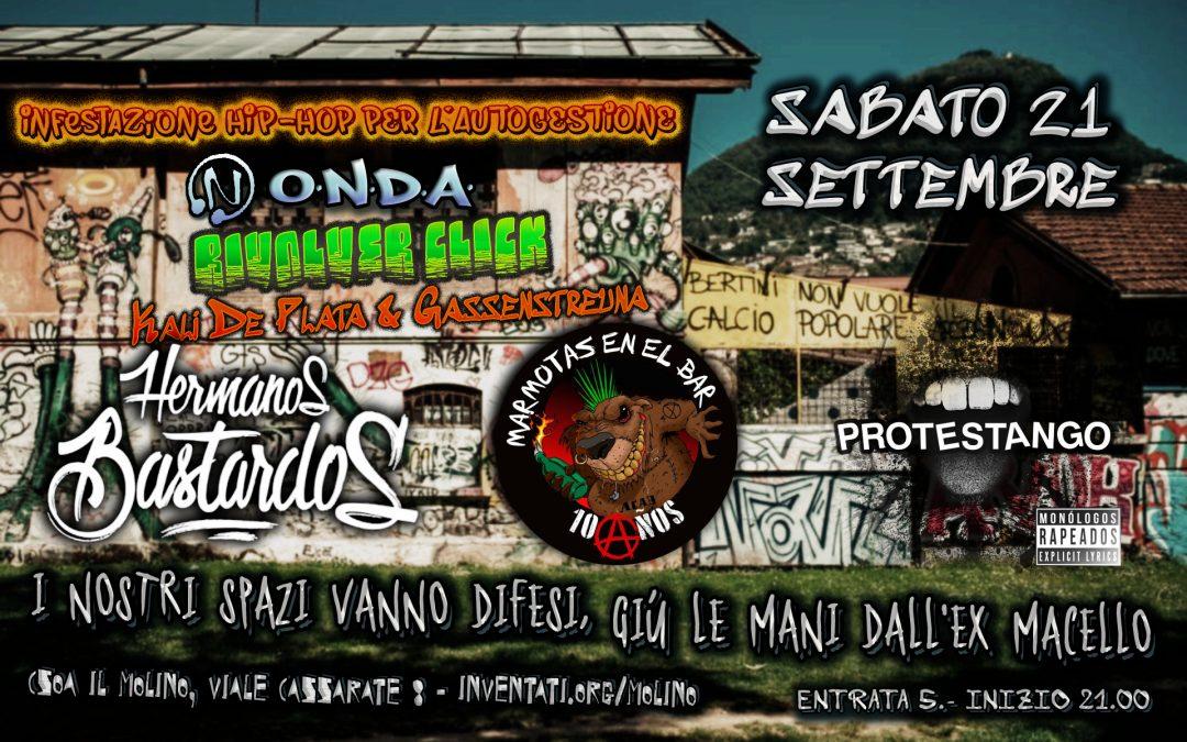 Lugano (SUIZA) Hermanos Bastardos + Marmotas en el Bar + Protestango