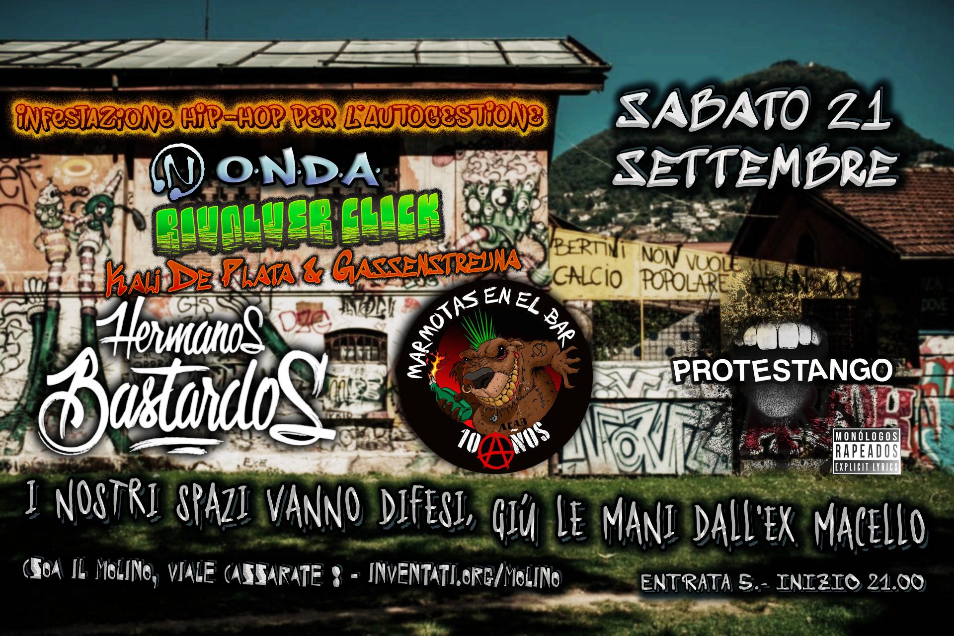 Lugano (SUIZA) Hermanos Bastardos + Marmotas en el Bar + Protestango @ CSOA IL MOLINO